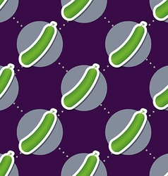 Cucumber pattern seamless texture with ripe green vector
