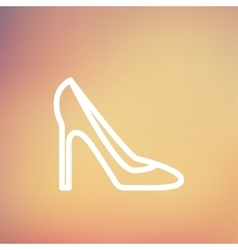 Lady high heel shoe thin line icon vector
