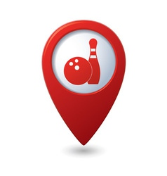 Bowling icon red pointer vector
