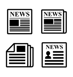 Newspaper icons set vector