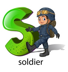 A letter s for soldier vector
