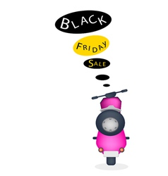 A motorbike with black friday sale banner vector