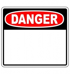 Danger blank sign vector