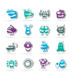 Various abstract monsters vector