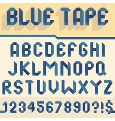 Blue tape alphabet vector
