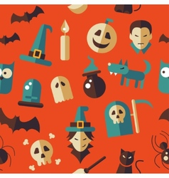 Flat design halloween pattern vector
