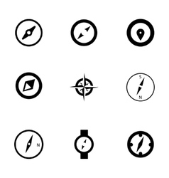 Compass icons set vector