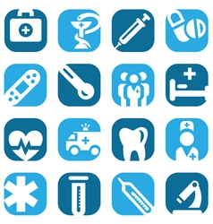 Color medical icon set vector