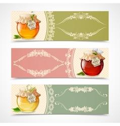 Honey banners horizontal vector