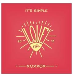 Love life vector