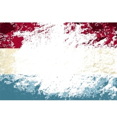 Luxembourg flag grunge background vector