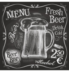 Pub logo design template beer mug or menu vector