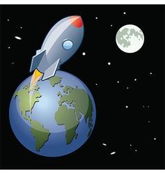 Space rocket launch vector