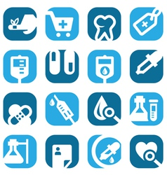 Color medical icons set vector