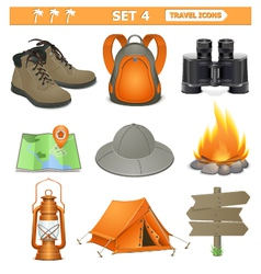Travel icons set 4 vector