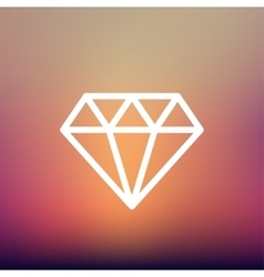 Dazzling diamond thin line icon vector