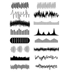 Sound wave icons set vector