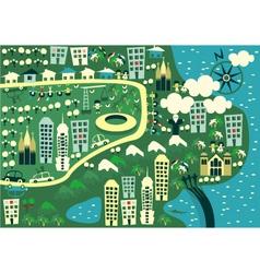City birdseye vector