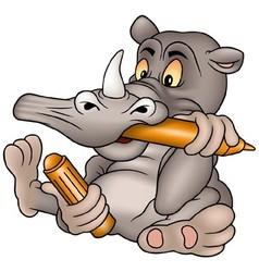 Rhino painter vector