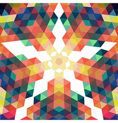 Retro star backdrop mosaic hipster background made vector