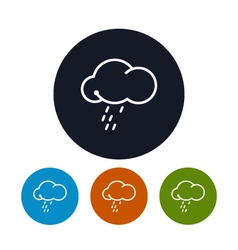 Icon cloud with the rain vector