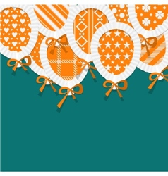 Simple orange paper balloons with pattern fill vector