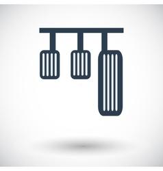 Pedal car single icon vector