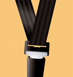 Safety seat belt vector