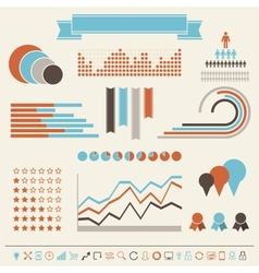 Vintage styled infographics elements vector
