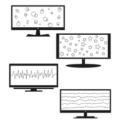 Tv sets silhouette for your design vector