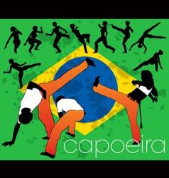Capoeira silhouettes vector