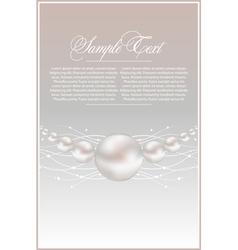Realistic pearls vector