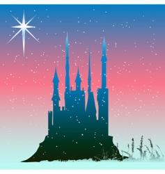 Winter castle vector