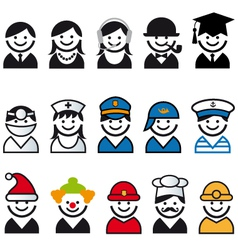 Professions people icon set vector