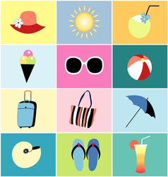 Icons to the summer recreation vector