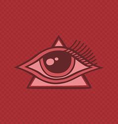 All seeing eye of horus vector