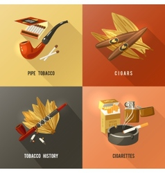 Tobacco design concept vector