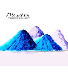 Mountains painted oils background concept vector