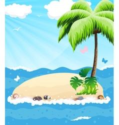 Island in the ocean vector