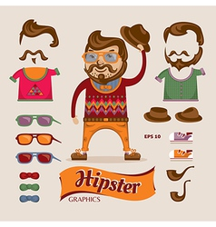 Hipster handsome man vector