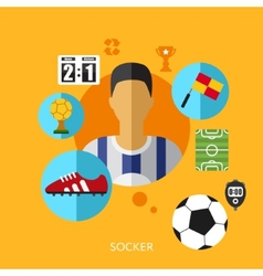 Football soccer infographic vector
