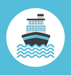 Cruise ship design vector