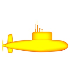 Yellow submarine vector