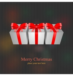 Christmas gift present box vector