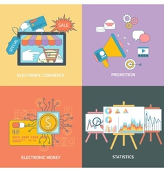 Electronic commerce statistic promotion vector