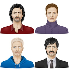 Men face vector