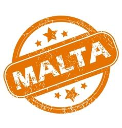Malta grunge icon vector