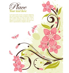 Grunge decorative floral frame vector