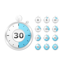 Paper timers vector