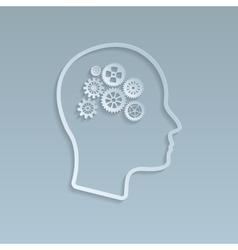 Gears on brain vector